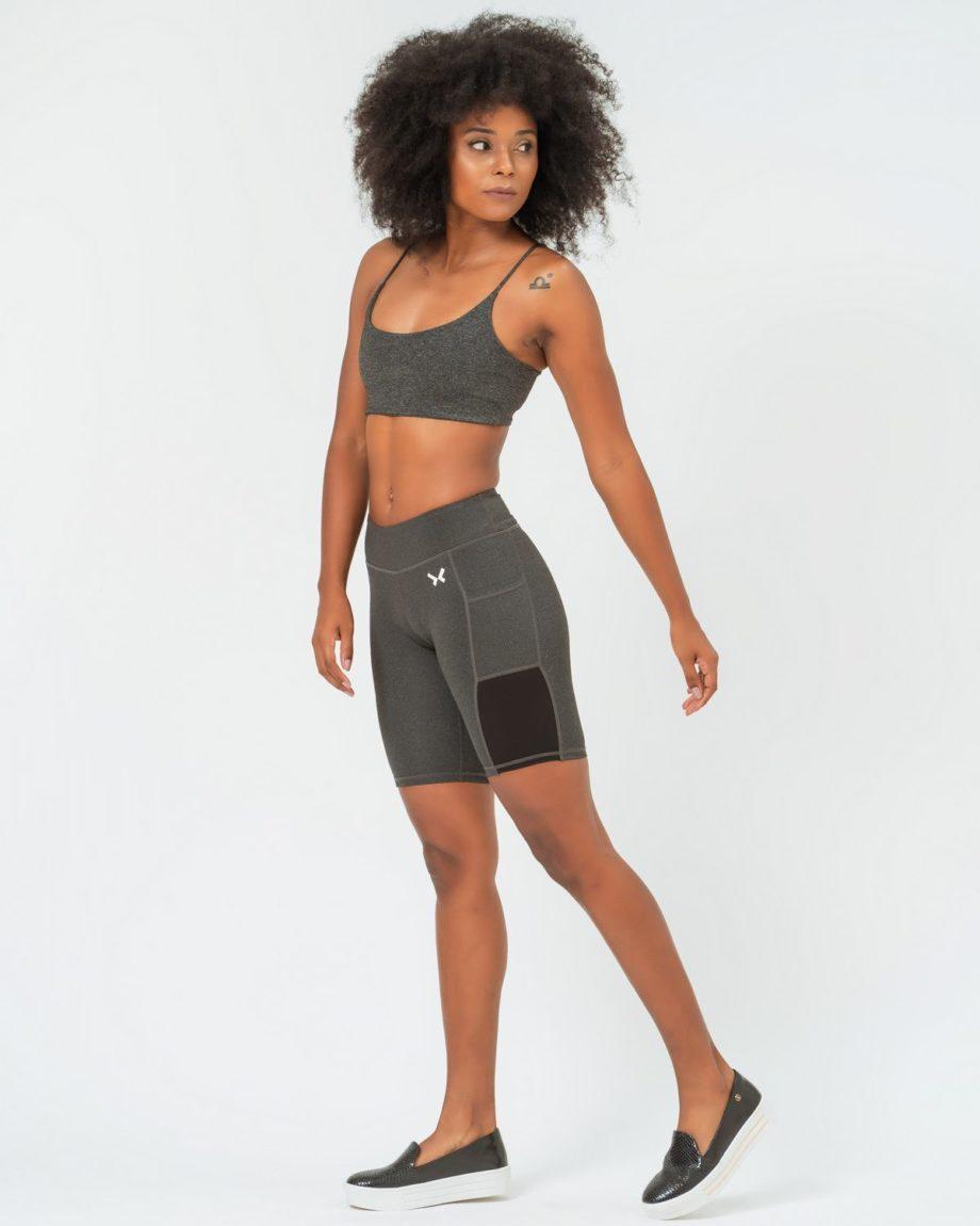 Shorts gris mujer