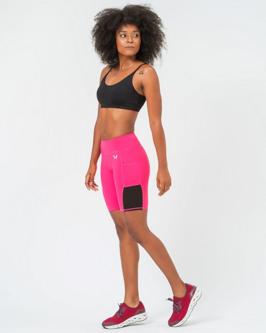 Short Deportivo Mujer Rosa
