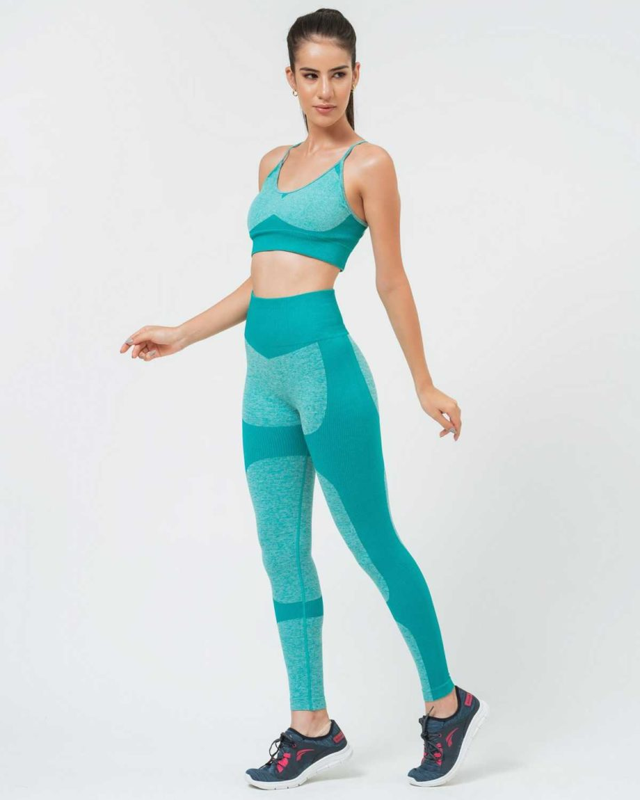 Conjunto fitness verde